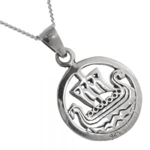 Unusual Sterling Silver Jewellery: Viking Longboat Pendant