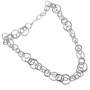 Statement Sterling Silver Jewellery: Chunky Linked Circles Necklace