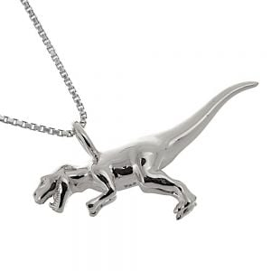Amazing Sterling Silver Jewellery: Stunning T-Rex Dinosaur Pendant (33mm x 19mm x 9mm) (N195)S)