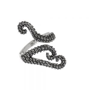 Sterling Silver Jewellery: Statement Octopus Tentacle Ring