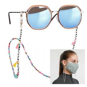 Multicoloured Seed bead and tassel Glasses/ Mask Chain (JC4)