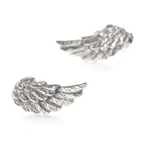 Sterling Silver Textured Angel Wings