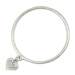 Danon Jewellery: Bangle with Swarovski Centre Detail Heart Charm