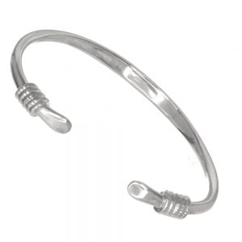 Sterling Silver Jewellery: Oxidised Balinese Style Rope Bracelet (18.75cm) (B107)A)