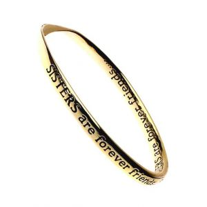 'Sisters are Forever Friends' Quote Bangle sentimental quote jewellery
