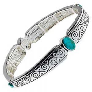 Festival Fashion: Simple ethnic flavour bracelet with a Turquoise stone