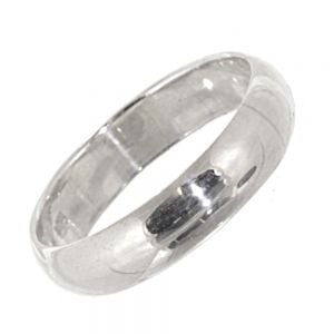 Sterling Silver Jewellery: Shiny Silver Rounded Band Ring