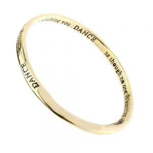Quote Jewellery: Gold Dance Inspirational Quote Bangle