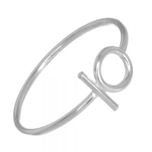 Sterling Silver Jewellery: Minimalist Circle and Bar Ring (SR45)