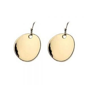 Simple and Elegant Fashion Jewellery: Shiny Gold Round Concave Drops