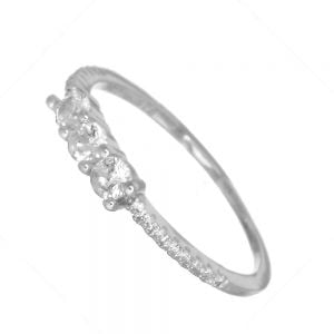 Lovely Sterling Silver Jewellery: Sparkly CZ Simulated Diamond Ring (SR112)