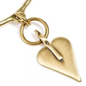 Danon Jewellery: Gold Finish Bangle with Signature Danon Heart Charm