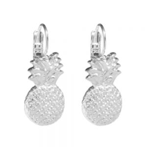 NEW DANON JEWELLERY: SHINY SILVER PINEAPPLE CHARM DROP EARRINGS