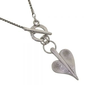 Sale! Danon jewellery: 42-46cm Snake Chain Necklace with Crystal Embellished Chubby Heart Pendant