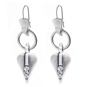 Danon jewellery: Pewter Signature Style Heart Drops