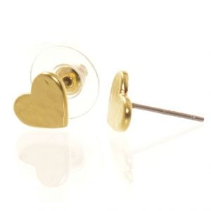 Danon Jewellery: Gold mini heart stud earrings