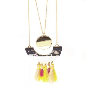YXN-1601116 Festival Fashion: Long Necklace with Beads and Tassels