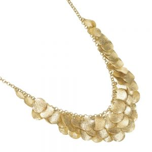 Fashion Jewellery: Worn Gold Multi-Coin Statement Necklace