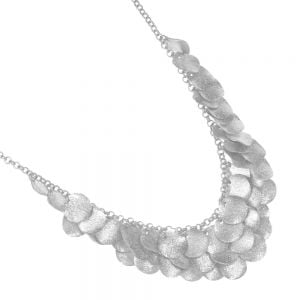 Fashion Jewellery: Stunning  worn silver Multi-Coin Statement Necklace