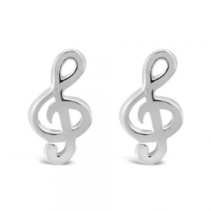 Sterling Silver Treble Clef Studs Box