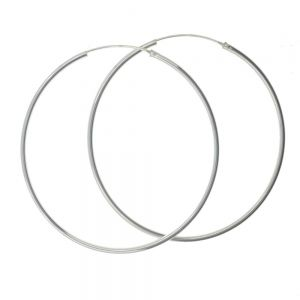 big large Sterling Silver Hoops
