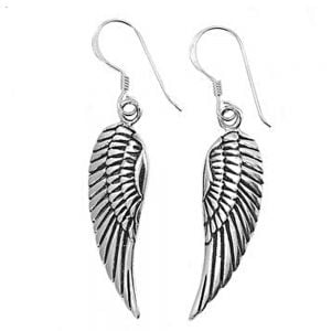 Sterling Silver Jewellery: Angel Wing Earrings