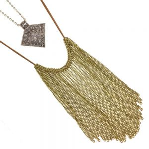 Festival Fashion: Double Layer Boho Necklace With Chain Tassels