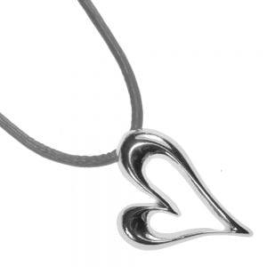 Grey Magnetic Heart Necklace …fashion jewellery york