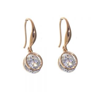 Gift Boxed Fashion Earrings: Delicate Swarovski geometric drop charm earrings