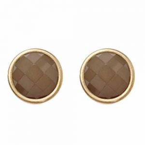Light Grey and Gold Circle Stud