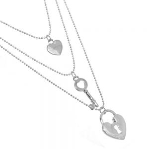Rue B Fashion Jewellery: Triple Layered Silver (22