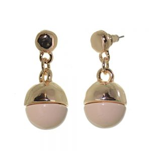 Unusual Fashion Jewellery: Rose Gold and Peach Ball Earrings