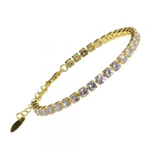 Beautiful Fashion Jewellery: Gold Delicate Crystal Single Strand Bracelet
