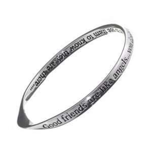 quote bangle Silver Plated Bangle Good friends are like angels... you don't have to see them to know they are there...