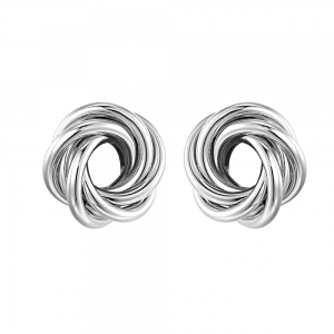 Statement Fashion Jewellery: Chunky Knotted Circles Stud Earrings
