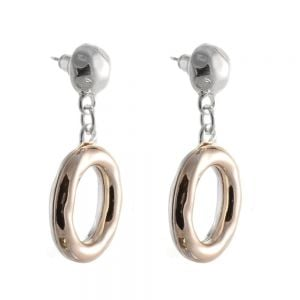 Statement Fashion Jewellery: Hammered Semi-Sphere and Chunky silver Oval Drops