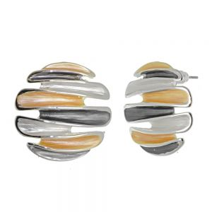 Mixed Metal Fashion Jewellery: Silver, Gold and Circle Effect Studs