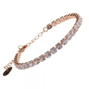 Beautiful Fashion Jewellery: Rose Gold Delicate Crystal Single Strand Bracelet