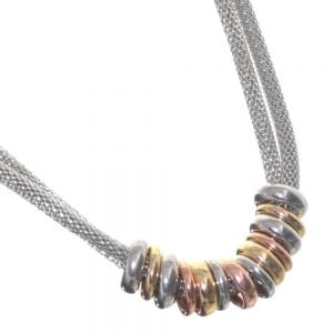 Rose Gold Range Costume Jewellery: Multi Tone Bead Necklace