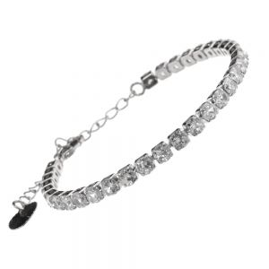 Beautiful Fashion Jewellery: Silver Delicate Crystal Single Strand Bracelet
