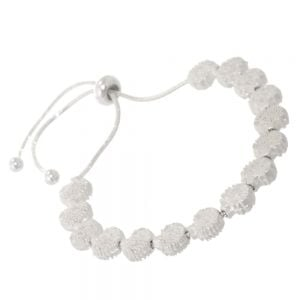 Adorable Fashion Jewellery: Drawstring Bracelet with Delicate Tree Motif in Soft Silver Finish (M83)