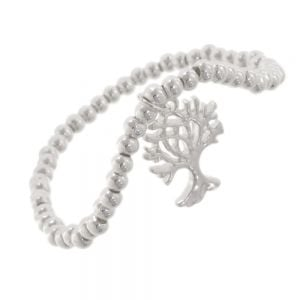 Beautiful Fashion Jewellery: Silver Bead Bracelet with Tree of Life Charm