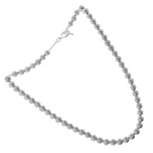 Silver Ball Design Necklace