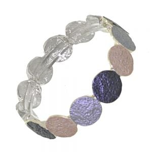 Stunning Fashion Jewellery: Magnetic Grey and Coffee Tone Colours Bracelet with Rough Textured Finish
