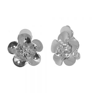 NEW Fashion Jewellery: Silver Tone Flower Design CLIP-ON Earrings