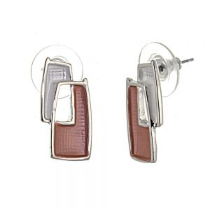 Pretty Fashion Jewellery: Bobbly Textured Oblong Stud Earrings in Matt Red and White