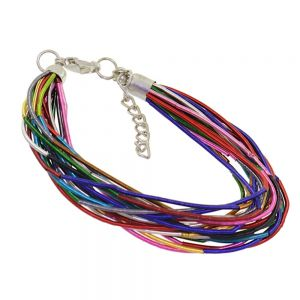 Fashion Jewellery - ADJUSTABLE MULTI STRANDED MULTI COLOURED SPRING STYLE BRACELET (M
