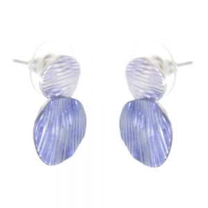 Gorgeous Fashion Jewellery: Metallic Blue Tone Stud Earrings (R214)
