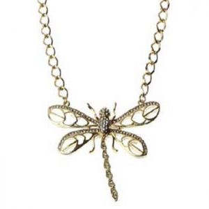 SALE Fashion Jewellery: Gold Dragonfly Necklace (S237)