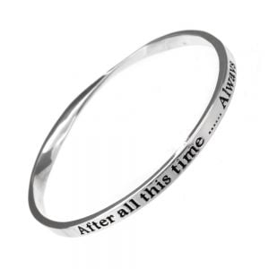 Silver Plated quote bangle Bangle